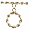 Gold-filled 14kt Toggle Circle Twist 15mm